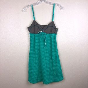 Free People Sz 8 Green Brown mini Sun Dress